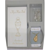 Gift Set, Mass Book, with Rosary & Medal For Holy Communion