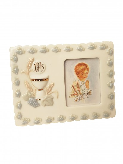 Porcelain Photo Frame Ideal First Communion Gift for a Girl...