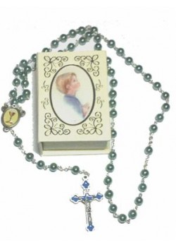 Blue Rosary in book shaped box