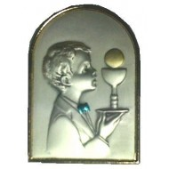 Free standing Sterling Silver Plaque for your lovely First Communion Boy