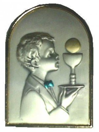Free standing Sterling Silver Plaque for your lovely First Communion Boy...