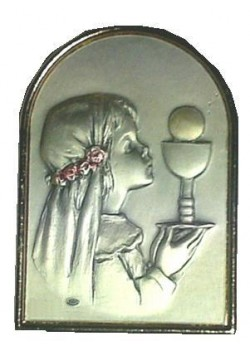 Free standing Sterling Silver Plaque for Girl
