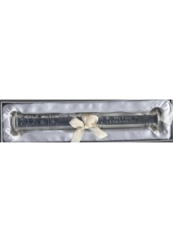 Silver Plated Holy Communion Certificate Holder with a place to engrave