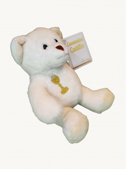 White First Holy Communion 7 inch high Teddy Bear...