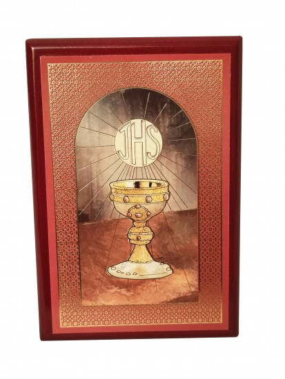 Holy Communion Wooden Plaque with Chalice Motif Gift...