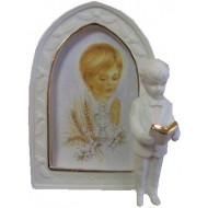 Ceramic Standing Statue Holy Communion Photo Frame
