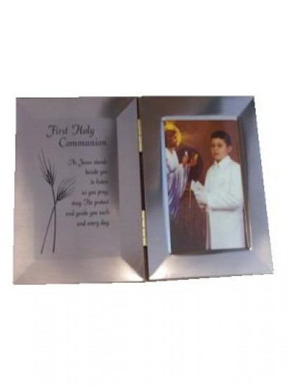 Double Metal Photo Frame: Ideal Holy Communion Gift...