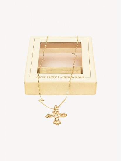 Sterling Silver Necklace with Beautiful Decorative Cross...