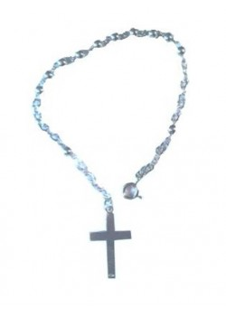 Sterling Silver One Decade Rosary Bracelet