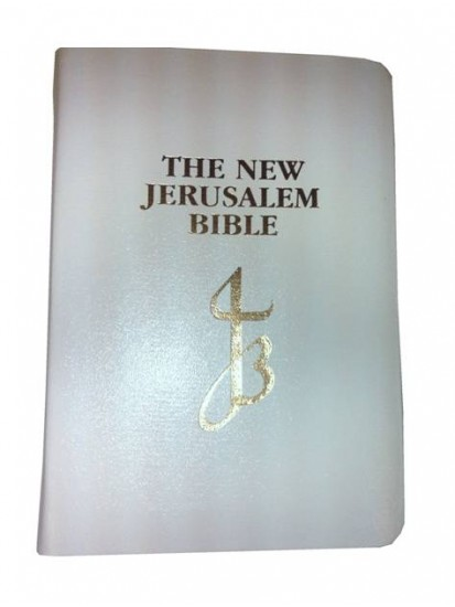 First Holy Communion CTS New Catholic Bible in White Leather...