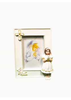 Communion Resin Photo Frame For a Girl