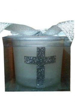 Silver Cross Candle