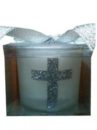 Silver Cross Candle...