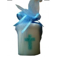 Small Communion Candle in Blue