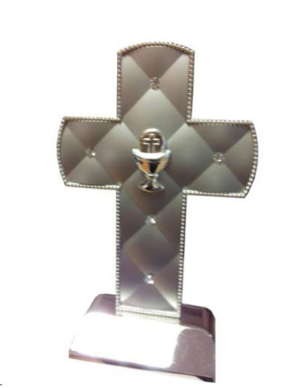 Silver studded Cross with Communion motif...