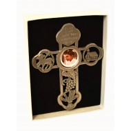 Pewter Cross with Communion motif