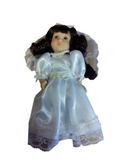 Communion Doll Dressed in Communion dress available in Blonde or Black...