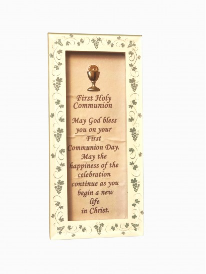 Free Standing Glass Frame for Holy Communion...