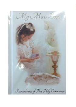 Communion Mass Book in Hard Back for a Girl