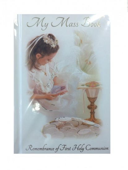 Communion Mass Book in Hard Back for a Girl...
