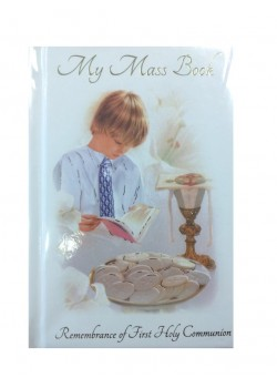 Communion Mass Book in Hard Back for a Boy