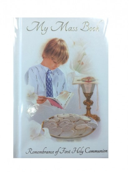 Communion Mass Book in Hard Back for a Boy...