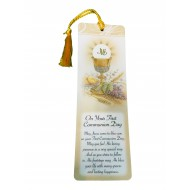 Laminated First Holy Communion Bookmark for a Boy