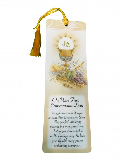 Laminated First Holy Communion Bookmark for a Boy...