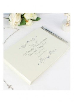 Guest Book & Pen Ideal Gift for First Holy Communions, Christenings & Weddings