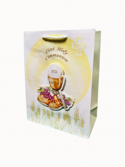 Holy Communion Gift Bag with a 3D motif 19x25...