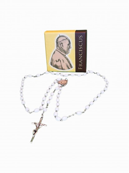White Rosary with accompanied with lovely illustrated book Both are Blessed...