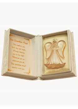Crystal Guardian Angel in a Lovely Presentation Box and Verse inside: A cute little First Communion Gift