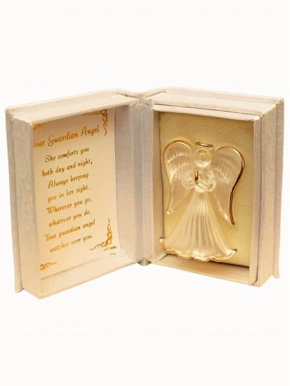 Crystal Guardian Angel in a Lovely Presentation Box and Verse inside: A cut...