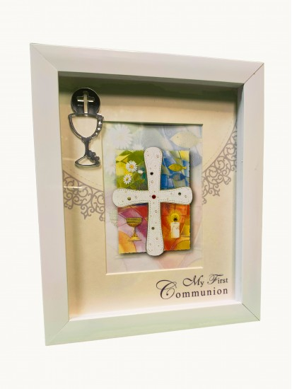 Wood box style Photoframe  with Chalice: Ideal Gifts for an 8/9 year old's ...