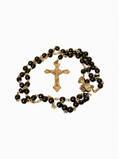 Hematite Rosary for a boy: Wonderful Holy Communion Gift...