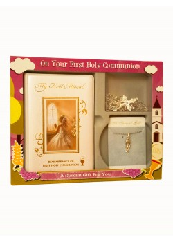 Holy Communion Gift Set for Girl with Rosary & Chain