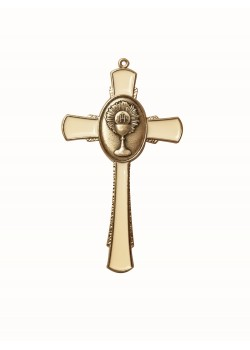 Hanging Cross with Communion Motif for First Communion