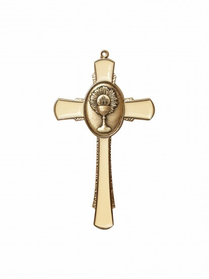 Hanging Cross with Communion Motif for First Communion...