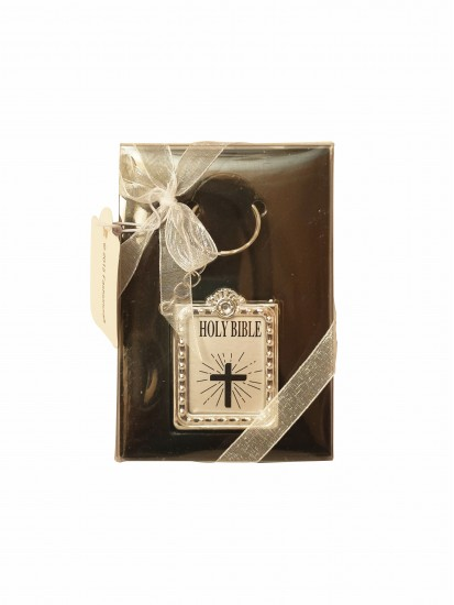 Silver Holy Bible Keyring: With Short Prayers...