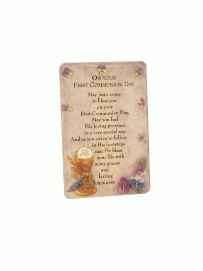 Prayer Card with Communion Verse for Holy Communion...