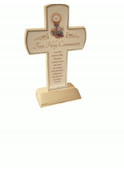 Free Standing Cross with Communion Verse: Gift for First Communion