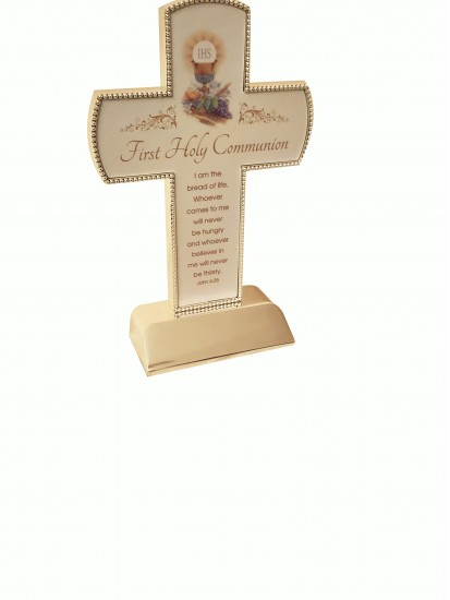 Free Standing Cross with Communion Verse: Gift for First Communion...