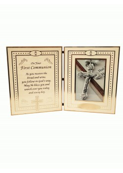 Folding Photoframe with Communion Verse for Holy Communion