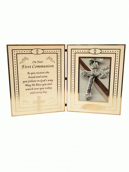 Folding Photoframe with Communion Verse for Holy Communion...