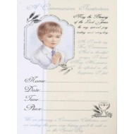 12x Boy First Holy Communion Invitations with Envelopes