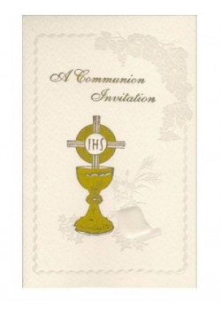 12x Symbolic First Holy Communion Invitations with Envelopes
