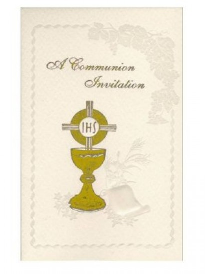 12x Symbolic First Holy Communion Invitations with Envelopes...