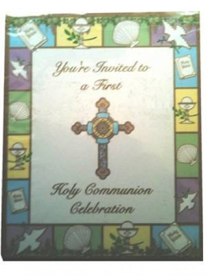 8 x First Holy Communion invitations...