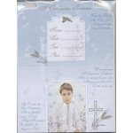 12 Boy  1st Holy Communion Invitations with Envelopes