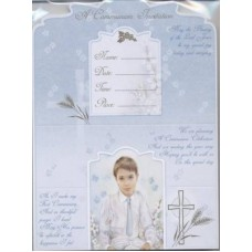 12 Boy  First Holy Communion Invitations with Envelopes